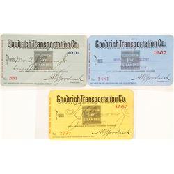 Goodrich Transportation Co. Steamer Passes: 1903, 1904, 1906