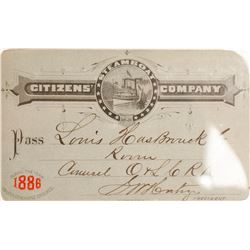 Citizens' Steamboat Co. Annual Pass, 1886