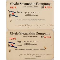 Clyde Steamship Company Annual Passes (2)