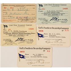 Texas & Other Southern Steamer Passes