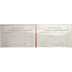 Sacramento & Placerville Railroad Co. Expense Bills