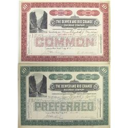 Denver & Rio Grande Railroad Co. Stock Certificate Pair