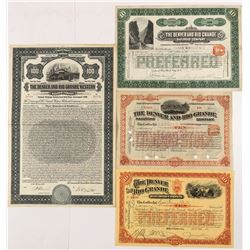 Denver & Rio Grande Stock Certificate Collection