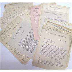Southeastern Railroad Correspondence Archive w/ Hardware Merchant