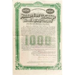 Milford and Uxbridge Street Railway Company Bond