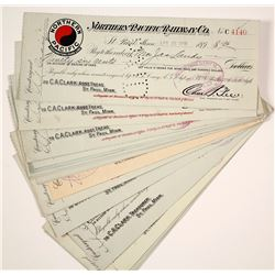 Northern Pacific Railway Company Check Collection incl. RN-X