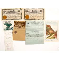 Montana Railroad Ephemera
