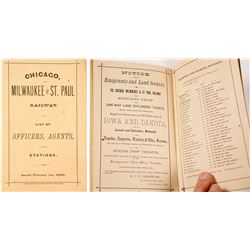 Chicago, Milwaukee & St. Paul Railway List of Officers, Agents, & Stations, 1880