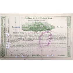 Milwaukee & St. Paul Railway Stock signed by Russell Sage
