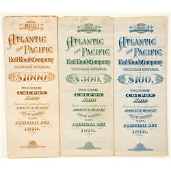 Atlantic and Pacific Railroad Bonds (3)