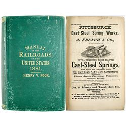 Poor's Manual of Railroads Of the US 1881