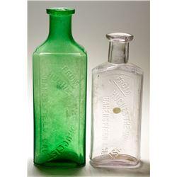 Hughes Drug Bottles (2), Bakersfield