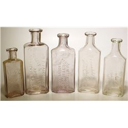 W. F. Fairchild Drug Bottles (5), Placerville