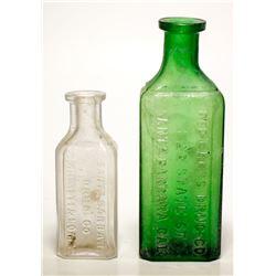 Red Cross  Santa Barbara Drug Co. Bottles (2)