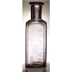 B. F. Foster Druggist Bottle
