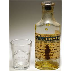 C. L. Kitzmeyer Drugstore Bottles (2)