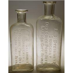 F. J. Steinmetz Druggist Bottles (2)