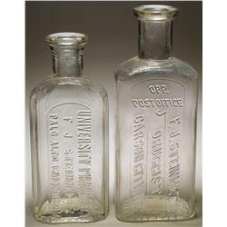 F. J . Steinmetz Druggist & University Pharmacy Bottles (2)