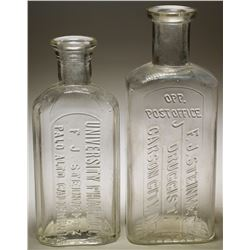 F. J . Steinmetz Druggist & University Pharmacy Bottles (2)