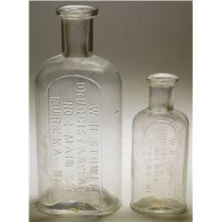 W. H. Stowell, Druggist & Assayer, Bottles (2)