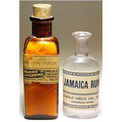 Morris & Loring and Eagle Drug Companies Bottles (2)