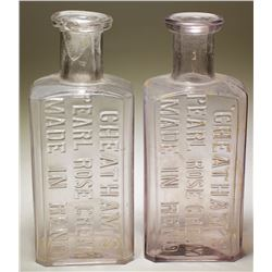 Cheatham's Pearl Rose Cream Bottles (2)