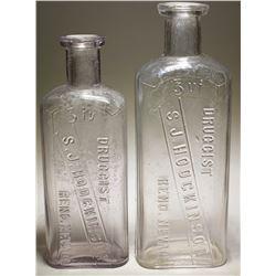 S. J. Hodgkinson Druggist Bottles (2)