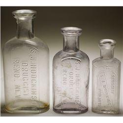 S. J. Hodgkinson Druggist Bottles (3)