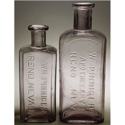 Wm. Pinniger Drug Bottles (2)