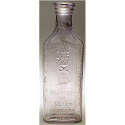 The Owl Pharmacy Co. Pictorial Drug Bottle