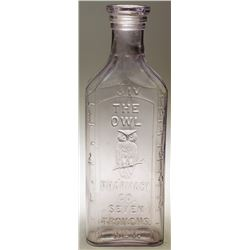 The Owl Pharmacy Co. Pictorial Drug Bottle