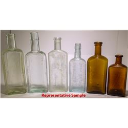 Embossed Medicine Bottle Collection, c1900