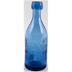 C & K Eagle Works Soda Bottle