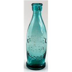 Crystal Water Co. Soda Bottle