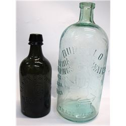 Clarke & White and Buffalo Lithia Mineral Water Bottles