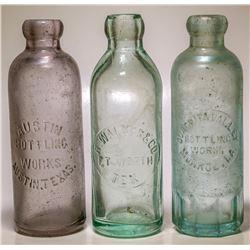 Walker, Fort Worth and Ouachita Valley, Monroe Bottles