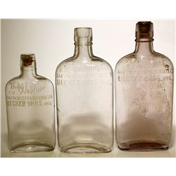 "Three ""The Waldorf"" Pocket Flasks"