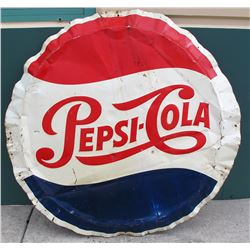 Large Pepsi Cola Metal Sign
