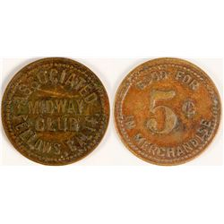 Midway Club Token (Fellows, California)