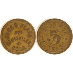 Jack's Place Token (Louisville, Colorado)