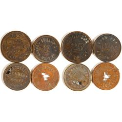 Four Butte, Montana Tokens (Two R6)