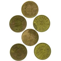 Three Nevada Ghost Town Tokens (Tungsten, Mason, Thompson)