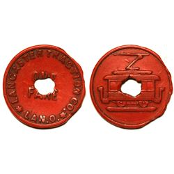 Lancaster Traction Company Token (Lancaster, Ohio)