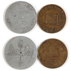 Abilene Bank & Cafe Tokens (Abilene, Texas)