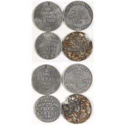 Four Different Abilene, Texas Tokens