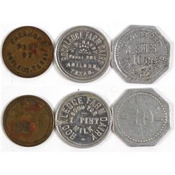 Three Abilene, Texas Tokens