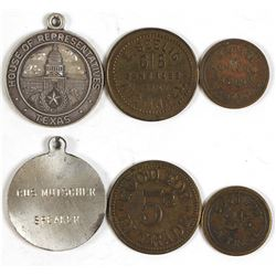 Three Political Related Texas Tokens