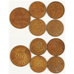 Caton Lumber Co. Tokens (Avinger, Texas)