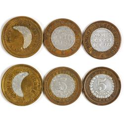 Three Encased Beaumont, Texas Tokens