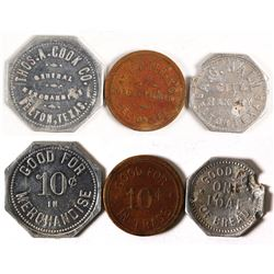 Three Belton, Texas Tokens